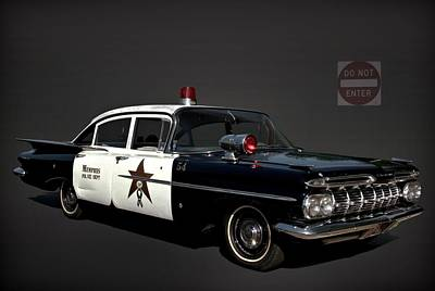 Photograph - 1959 Chevrolet Police Car by Tim McCullough
