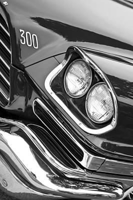 Chrysler 300 Photograph - 1959 Chrysler 300 Hood Emblem by Jill Reger