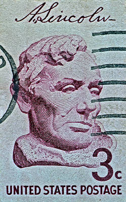 Photograph - 1959 Cooper Union Bust Of Lincoln Stamp by Bill Owen