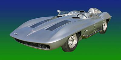 Photograph - 1959 Corvette Stingray Racer by Jack Pumphrey