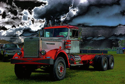 Photograph - 1959 Dc102a Autocar Semi-truck by Tim McCullough