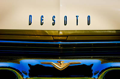 Photograph - 1959 Desoto Firedome Sportsman Grille Emblem -2566c by Jill Reger