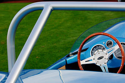 Professional Racing Photograph - 1959 Devin Ss Steering Wheel by Jill Reger