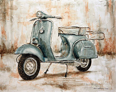 1959 Douglas Vespa Art Print