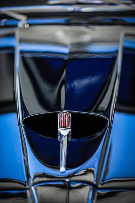 Photograph - 1959 Fiat 1200 Tv Trasformabile Hood Emblem -1616c by Jill Reger