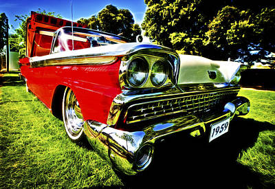 1959 Ford Fairlane 500 Skyliner Art Print by motography aka Phil Clark