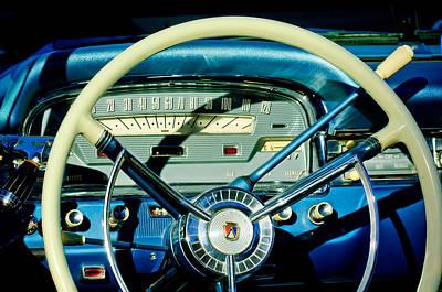 Photograph - 1959 Ford Fairlane Steering Wheel by Jill Reger