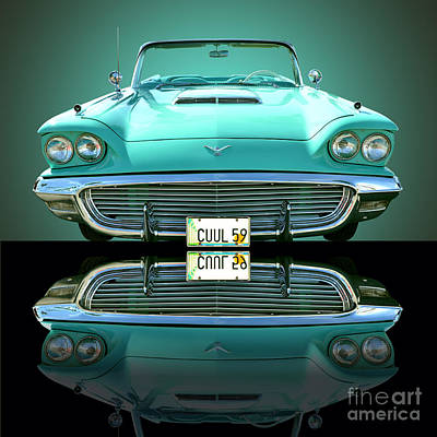 1959 Ford T Bird Art Print by Jim Carrell