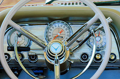 Photograph - 1959 Ford Thunderbird Convertible Steering Wheel by Jill Reger