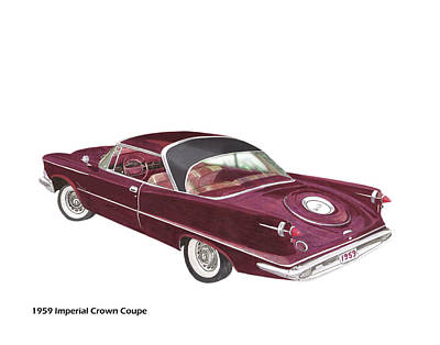 Painting - 1959 Imperial By Chrysler by Jack Pumphrey