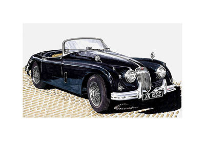Painting - 1959 Jaguar Xk 150 Ss by Jack Pumphrey