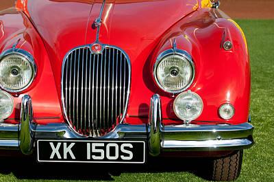 1959  Jaguar Xk150 Sots Grille Art Print by Jill Reger