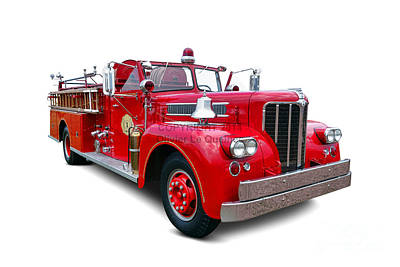 Photograph - 1959 Maxim Fire Truck by Olivier Le Queinec