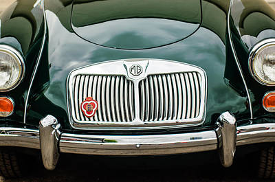 Photograph - 1959 Mg A 1600 Roadster Front End -0055c by Jill Reger