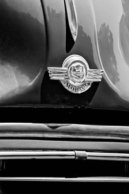 Photograph - 1959 Morris Panel Truck Emblem -2545bw by Jill Reger