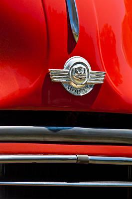 Photograph - 1959 Morris Panel Truck Emblem -2545c by Jill Reger