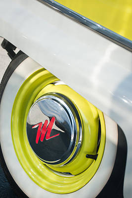 Photograph - 1959 Nash Metropolitan 1500 Convertible Wheel Emblem by Jill Reger