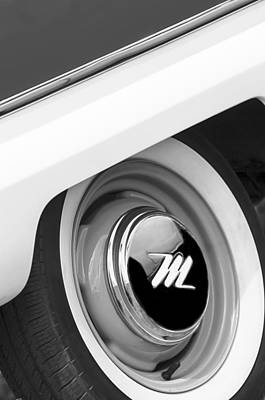 Photograph - 1959 Nash Metropolitan Wheel Emblem by Jill Reger