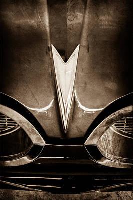 1959 Pontiac Bonneville Convertible Emblem Art Print