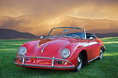 Sports Royalty-Free and Rights-Managed Images - 1959 Porsche 356 Cabriolet by Dave Koontz