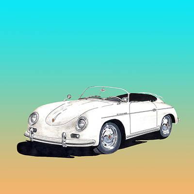 Sports Paintings - 1959 Porsche Speedster by Jack Pumphrey