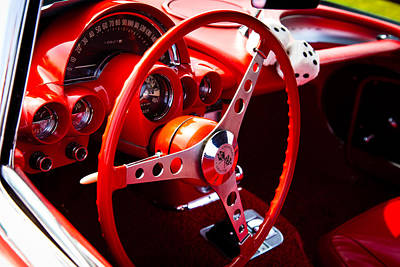 Red Street Rod Photograph - 1959 Red Chevy Corvette by David Patterson
