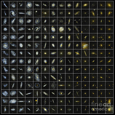Galex Photograph - 196 Galaxies by Science Source