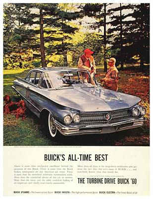 1960 - Buick Lesabre Sedan Advertisement - Color Art Print