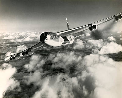 Photograph - 1960 Air Force B-52 In Flight by Historic Image
