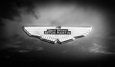 Photograph - 1960 Aston Martin Db-4 Series II Emblem -0435bw by Jill Reger