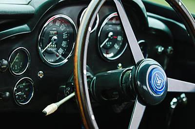 Photograph - 1960 Aston Martin Db4 Gt Coupe' Steering Wheel Emblem by Jill Reger