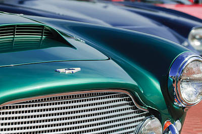 Photograph - 1960 Aston Martin Db4 Series II Grille - Hood Emblem by Jill Reger
