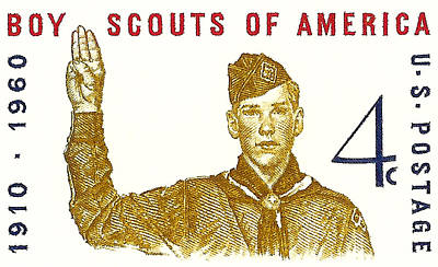 1960 Boy Scouts Of America Postage Stamp Art Print