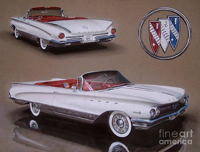 Buick Drawing - 1960 Buick Electra by Paul Kuras