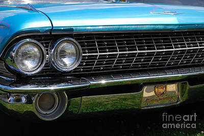 Photograph - 1960 Caddy Grill by Mark Spearman