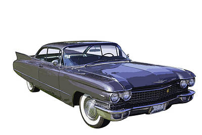 Antique Automobiles Photograph - 1960 Cadillac - Classic Luxury Car by Keith Webber Jr