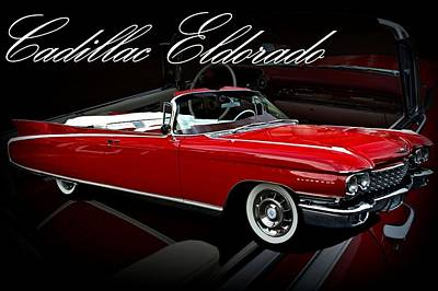 1960 Cadillac Convertible El Dorado  Art Print by Tim McCullough