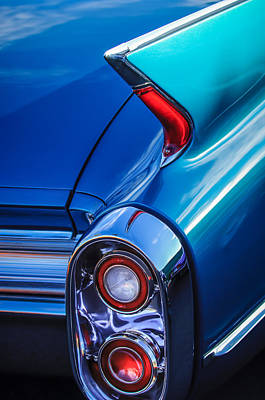Photograph - 1960 Cadillac Series 62 Convertible Taillight -1040c by Jill Reger