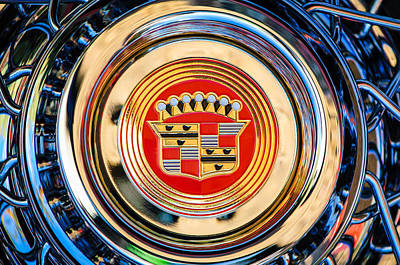 Photograph - 1960 Cadillac Series 62 Convertible Wheel -1083c by Jill Reger