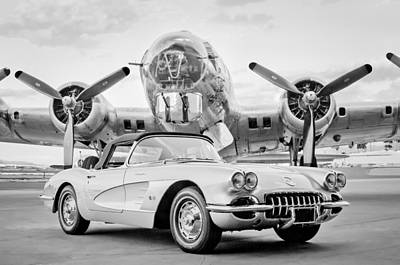 Photograph - 1960 Chevrolet Corvette - B-17 Bomber by Jill Reger