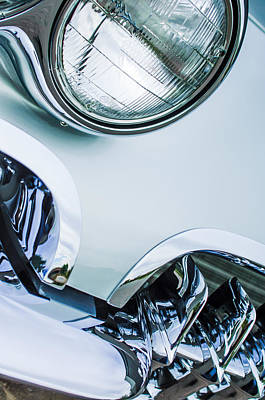 1960 Photograph - 1960 Chevrolet Corvette Head Light by Jill Reger