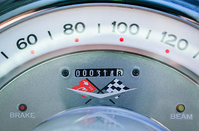 Photograph - 1960 Chevrolet Corvette Speedometer by Jill Reger