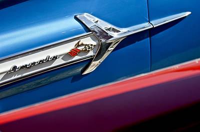 1960 Chevrolet Impala Emblem 7 Print by Jill Reger