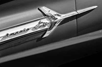 1960 Chevrolet Impala Side Emblem Art Print by Jill Reger