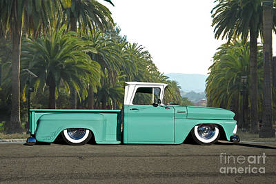 Food And Flowers Still Life - 1960 Chevrolet Pickup Praise the Lowrd by Dave Koontz