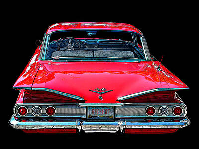 Photograph - 1960 Chevy Impala Rear View by Samuel Sheats