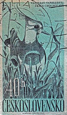 Macro Photograph - 1960 Chocholata Czechoslovakia Stamp by Bill Owen