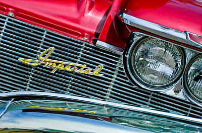 Photograph - 1960 Chrysler Imperial Grille Emblem -0269c by Jill Reger