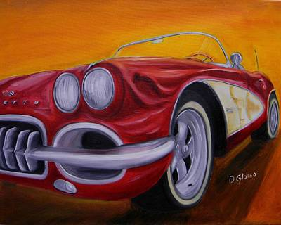 1960 Corvette - Red Art Print