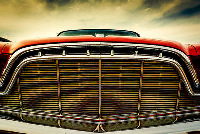 Car Show Photograph - 1960 Desoto Fireflite Coupe Grill by Jon Woodhams